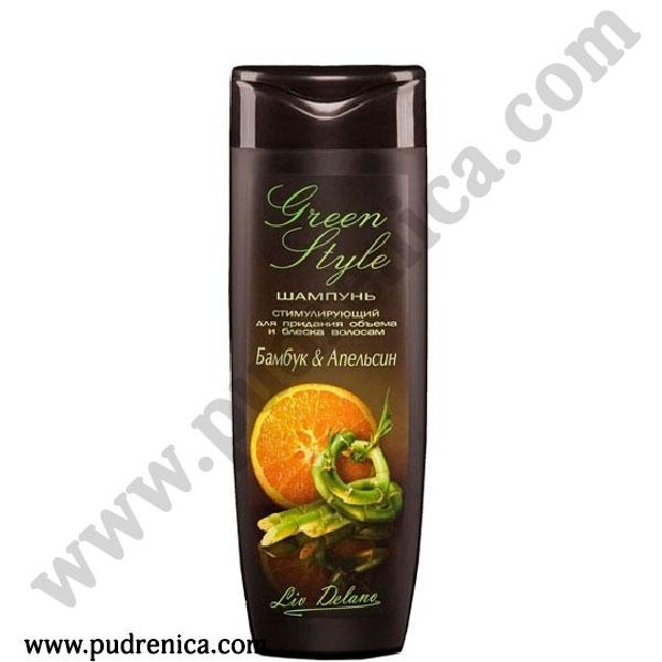 Стимулирующий шампунь «Бамбук&Апельсин» для придания объема и блеска волосам