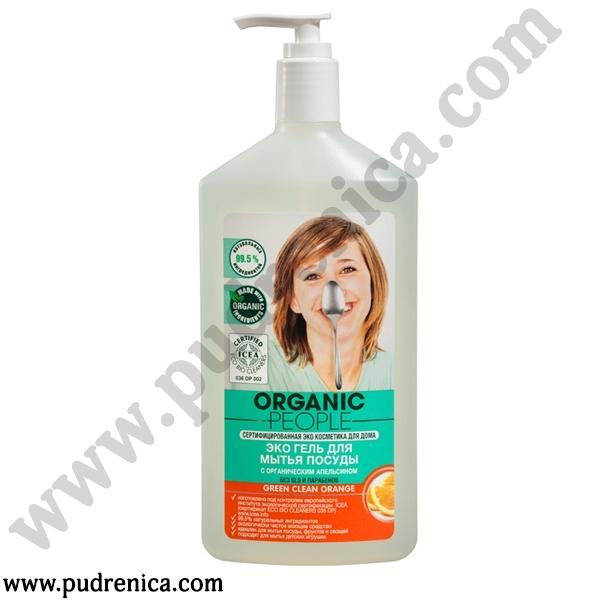 Эко гель для мытья посуды с органическим апельсином