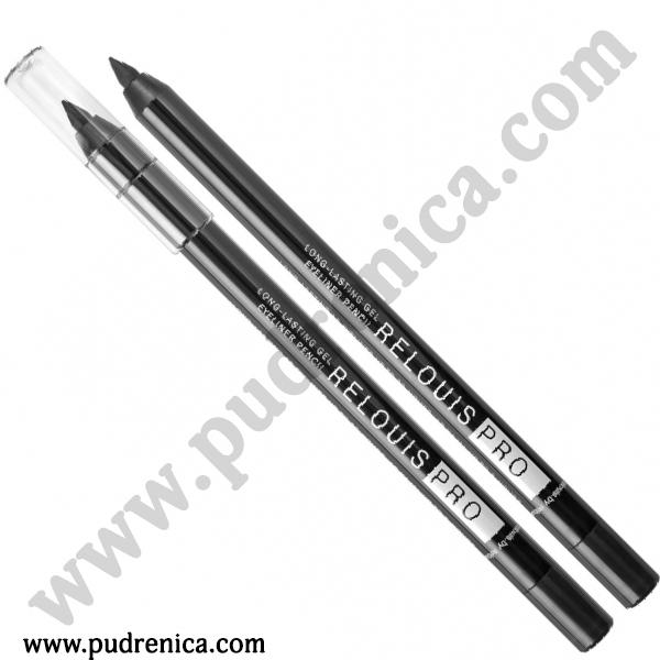 Карандаш для глаз стойкий гелевый Relouis Pro 01 black