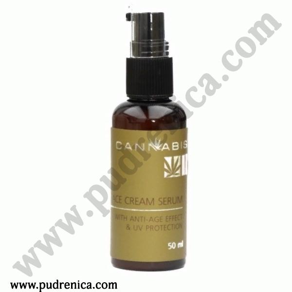 Крем-сыворотка с антивозрастным эффектом и защитой от ультрафиолета с экстрактом каннабиса Face Cream Serum anti-age effect & UV protection
