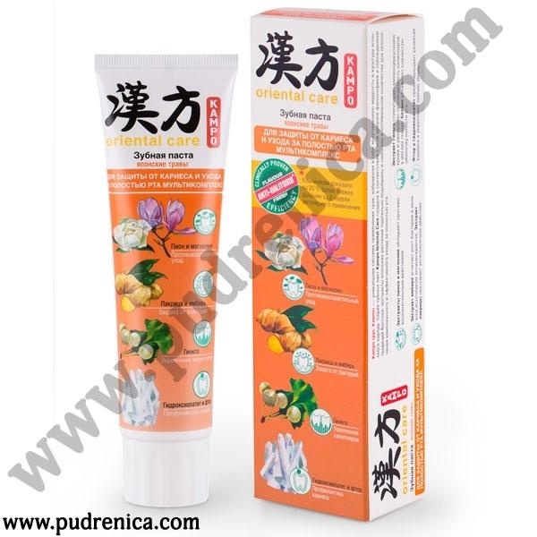 Паста зубная KAMPO ORIENTAL CARE Японские травы для защиты от кариеса и ухода за полостью рта мультикомплекс