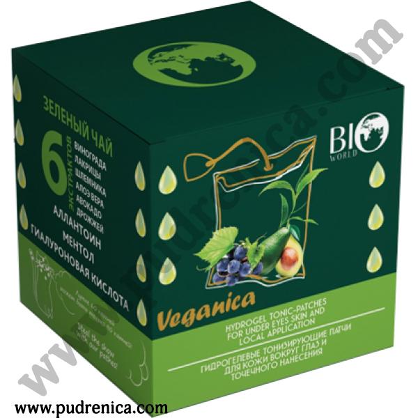 Патчи гидрогелевые тонизирующие с зеленым чаем Veganica BIO World