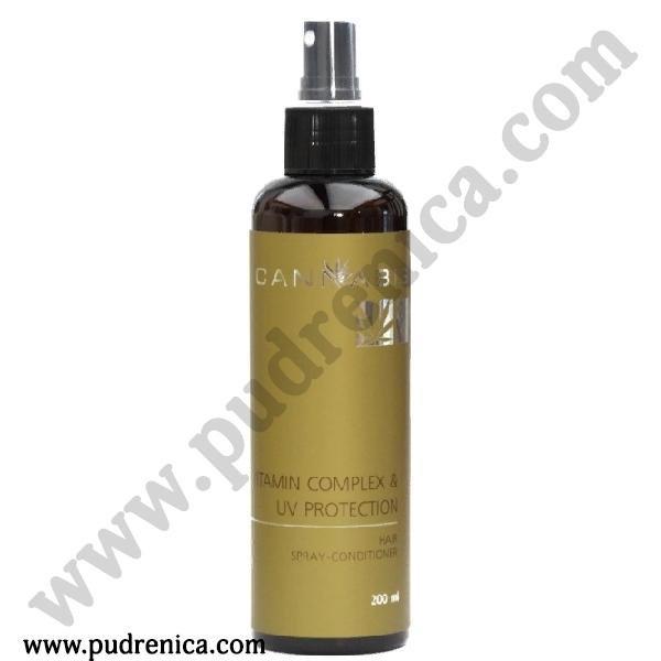 """Спрей-кондиционер для волос """"Витаминный комплекс и защита от ультрафиолета"""" с экстрактом каннабиса Vitamin complex & UV protection Hair Spray-conditioner"""