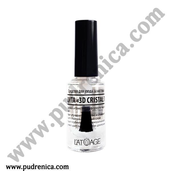 Средство по уходу за ногтями L'ATUAGE «Защита 3D Cristal Top»
