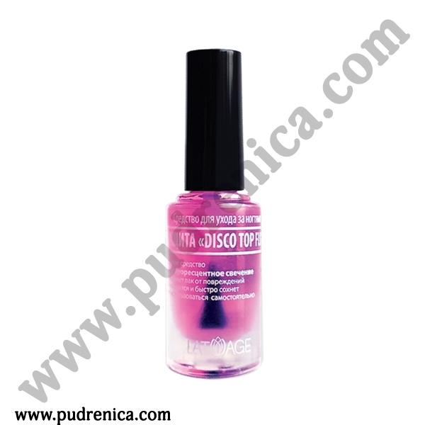 Средство по уходу за ногтями L'ATUAGE защита «Disco Top Fluo»