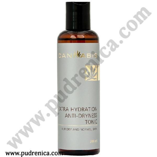 Тоник для сухой и нормальной кожи лица с микроотшелушивающим эффектом с экстрактом каннабиса EXTRA HYDRATION ANTI-DRYNESS TONIC For dry and normal skin