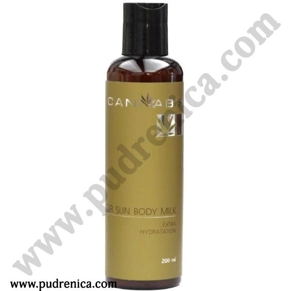 Увлажняющее молочко для ухода за кожей тела после загара с экстрактом каннабиса After Sun Body Milk Extra Hydratation