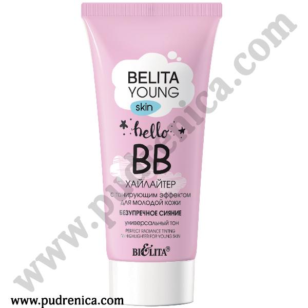 ВВ-хайлайтер с тонирующим эффектом для молодой кожи «Безупречное сияние» HD Bielita Young Skin