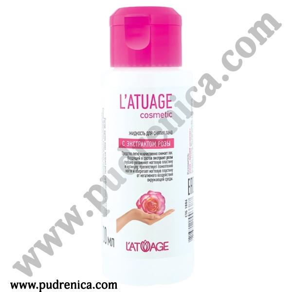 Жидкость для снятия лака L'ATUAGE с экстрактом розы